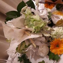 ブーケの花。