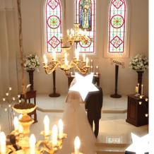 教会内の写真