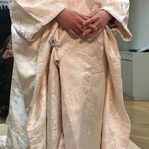 挙式で着用の白無垢