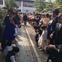 折り鶴は子供達がひろっていました!