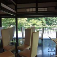 京都も感じられるゲスト控え室