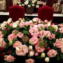 お花も希望を聞いてくれます。