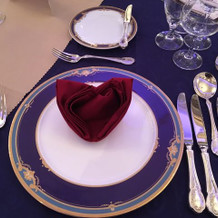 婚礼料理の食器