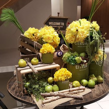 ウェルカムボード 装花
