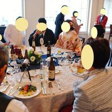 ゲスト用5テーブル全て回りました。