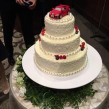 愛車のケーキ