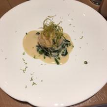 お魚料理♪見た目も楽しめました。