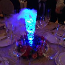 水を入れると光るグラスです