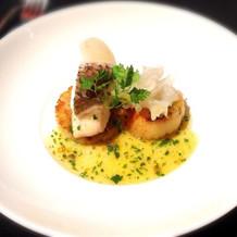 魚料理 真鯛と帆立のポワレ