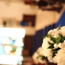 チャペル内お花