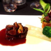肉料理 和牛フィレ肉のステーキ