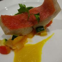 お魚 鯛のお料理