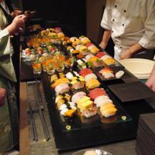 お寿司バー 大好評でした