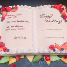 ケーキがとてもデザインが可愛かった