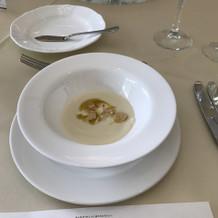 ぱっとしない味のスープでした。