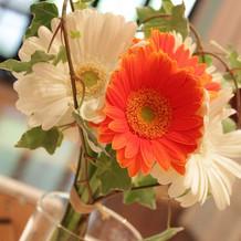 花の種類、色や組み合わせ