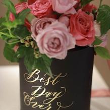 花束贈呈のお花。