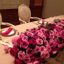 メインテーテーブル
