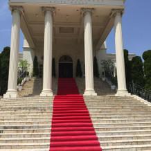 ホワイトハウスの大階段。
