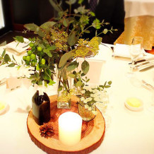 各テーブルの植物♪
