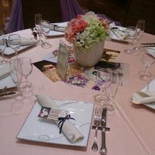 桜色のテーブルクロス