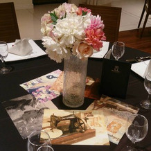 茶色のテーブルクロス