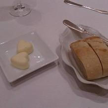 ハート型のバターがキュート