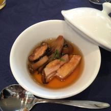 スープと洋風茶碗蒸し。キノコと鶏肉◎