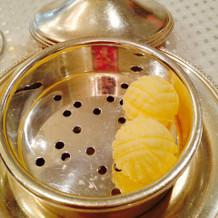 バターが丸くて可愛い