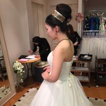 迷った可愛いドレスは前撮り用に