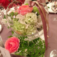 ゲストテーブルのお花可愛すぎました