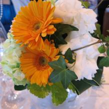 会場のお花もイメージ通りでした。