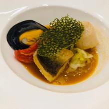 白身魚料理です。