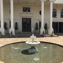 ヴィクトリアハウスの噴水です。