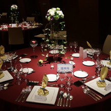 各テーブル装飾