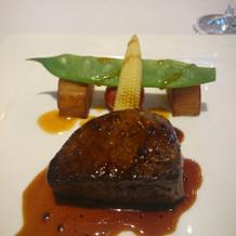 国産牛フィレ肉のポワレ