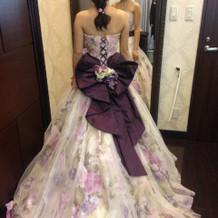 花柄のドレスを着ました!!