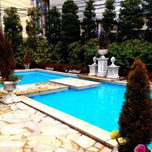 庭 プール