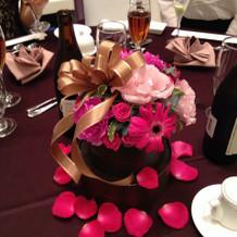 ゲストテーブル 装花