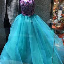 アリエルのようなカラードレス