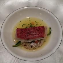 季節の魚のソテー