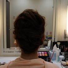 挙式用髪型考え中