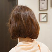 色々な髪型を提案してもらいました
