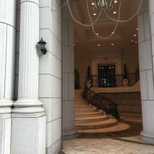 式場の入り口の反対側