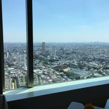 上の階のレストランから見える風景を