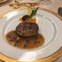 国産牛フィレ肉のグリエ モリーユソース