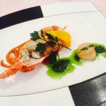 魚料理の海老と帆立