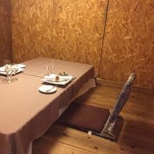 パーティー会場の控え室