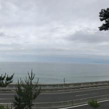 雨なのに水平線が見えました