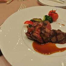 国産フィレ肉のグリエ
